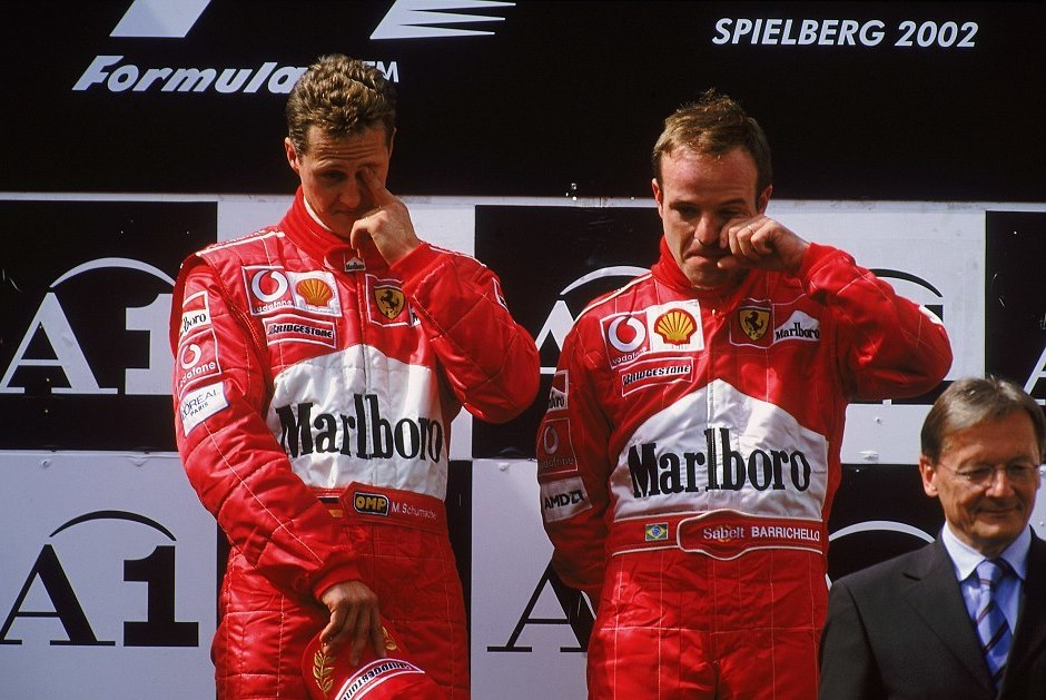 29922fa700000578 3121797 and what a farce the ceremony was an embarrassed schumacher push a 11 1434550788087