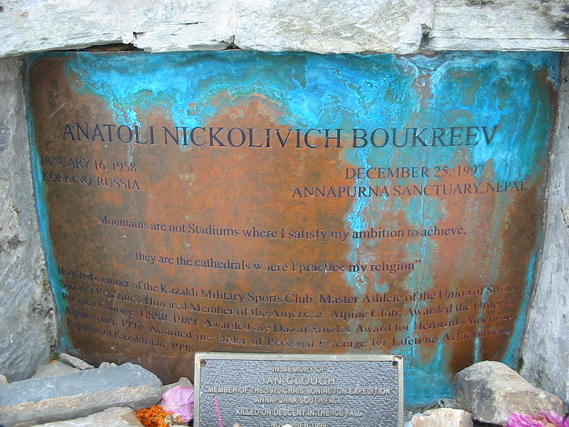 Anatoli Boukreev Memorial at Annapurna Base Camp