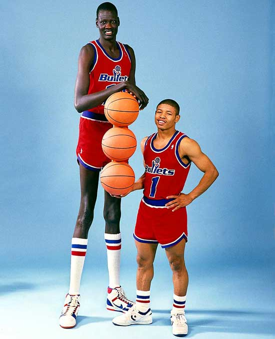 Manute Bol and Muggsy Bogues